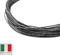 Проволока DRAGON metal Италия в обмотке цвет Grigio scuro (графит) 0,3 мм, упак 5 м 061903 - 99 бусин