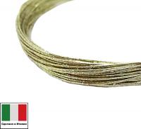 Проволока DRAGON metal Италия в обмотке цвет Oro (золото) 0,3 мм, упак 5 м 061904 - 99 бусин