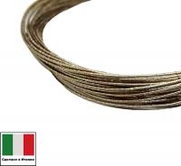 Проволока DRAGON metal Италия в обмотке цвет Oro Antico (тёмное золото) 0,3 мм, упак 5 м 061905 - 99 бусин