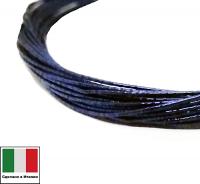 Проволока DRAGON metal Италия в обмотке цвет Blu scuro (тёмно-синий) 0,3 мм, упак 5 м 061907 - 99 бусин