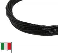 Проволока DRAGON metal Италия в обмотке цвет Nero (чёрный) 0,3 мм, упак 5 м 061908 - 99 бусин