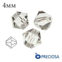 Биконусы хрустальные Preciosa 4 мм Crystal 20 штук/упаковка 061910 - 99 бусин