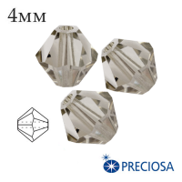 Биконусы хрустальные Preciosa 4 мм Crystal Velvet 20 штук/упаковка 061912 - 99 бусин