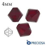 Биконусы хрустальные Preciosa 4 мм Siam 20 штук/упаковка 061914 - 99 бусин