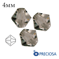 Биконусы хрустальные Preciosa 4 мм Black Diamond 20 штук/упаковка 061916 - 99 бусин