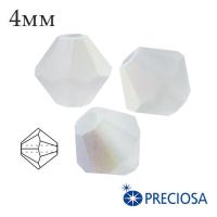 Биконусы хрустальные Preciosa 4 мм Crystall AB Matt 20 штук/упаковка 061918 - 99 бусин