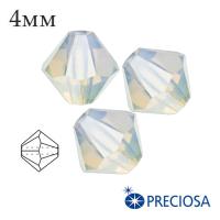 Биконусы хрустальные Preciosa 4 мм Whyte Opal 20 штук/упаковка 061919 - 99 бусин