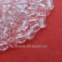 Бусины стеклянные граненые 3 мм Винтаж Чехия бесцветные прозрачные 40 шт/упаковка 061958 - 99 бусин