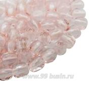 Бусины стеклянные граненые 3 мм Винтаж Чехия цвет нежно-розовый 40 шт/упаковка 061959 - 99 бусин
