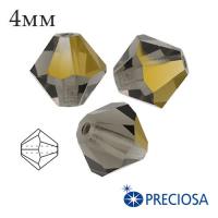 Биконусы хрустальные Preciosa 4 мм Starlight Gold Half 20 штук/упаковка 061977 - 99 бусин