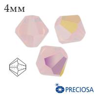 Биконусы хрустальные Preciosa 4 мм Rose Opal AB 20 штук/упаковка 062006 - 99 бусин