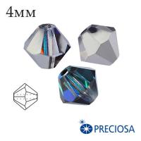 Биконусы хрустальные Preciosa 4 мм Bermuda Blue 20 штук/упаковка 062009 - 99 бусин