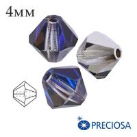 Биконусы хрустальные Preciosa 4 мм Heliotrope 20 штук/упаковка 062010 - 99 бусин