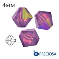 Биконусы хрустальные Preciosa 4 мм Amethyst Opal AB 20 штук/упаковка 062013 - 99 бусин