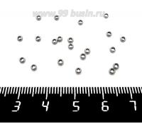Разделитель Спейсер 2,5*1 мм нержавеющая сталь, внутреннее отверстие 1,5 мм, 20 штук/упаковка 062029 - 99 бусин