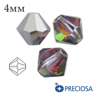 Биконусы хрустальные Preciosa 4 мм Vitrail Medium 20 штук/упаковка 062039 - 99 бусин