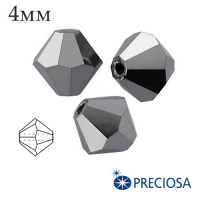 Биконусы хрустальные Preciosa 4 мм Light Hematite Full 20 штук/упаковка 062042 - 99 бусин