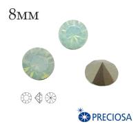 Шатоны PRECIOSA MAXIMA ss39 (8мм) Crysolite Opal без оправы 1 штука, Чехия 062140 - 99 бусин