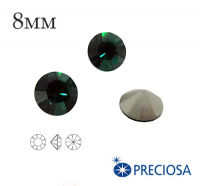 Шатоны PRECIOSA MAXIMA ss39 (8мм) Emerald без оправы 1 штука, Чехия 062142 - 99 бусин