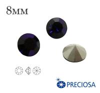 Шатоны PRECIOSA MAXIMA ss39 (8мм) Dark Indigo без оправы 1 штука, Чехия 062149 - 99 бусин