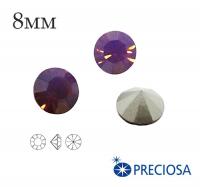 Шатоны PRECIOSA MAXIMA ss39 (8мм) Amethyst Opal без оправы 1 штука, Чехия 062157 - 99 бусин