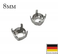 Оправа ss39 (8мм) Platinum 4 отверстия 1 штука Германия 062161 - 99 бусин