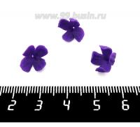 Декоративный элемент Цветок Сирени фактурный пришивной, из полимерной глины, цвет фиолетовый, размер около 10-12*7-8 мм, ручная работа, 1 штука 062193 - 99 бусин