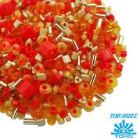 Бисер TOHO Beads Mix, цвет 09 Orange, 10 грамм 062203 - 99 бусин