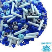 Бисер TOHO Beads Mix, цвет 05 Blue3, 10 грамм/упаковка 062204 - 99 бусин
