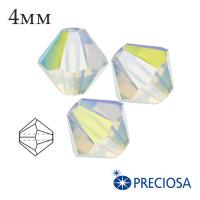 Биконусы хрустальные Preciosa 4 мм Whyte Opal AB 20 штук/упаковка 062238 - 99 бусин