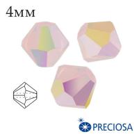 Биконусы хрустальные Preciosa 4 мм Rose Opal 2XAB 20 штук/упаковка 062239 - 99 бусин