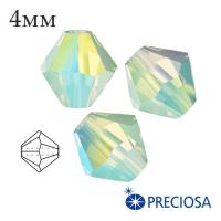 Биконусы хрустальные Preciosa 4 мм Chrysolite Opal 2XAB 20 штук/упаковка 062241 - 99 бусин