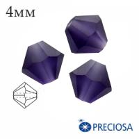 Биконусы хрустальные Preciosa 4 мм DeepTanzanite Matt (матовый эффект) 20 штук/упаковка 062242 - 99 бусин