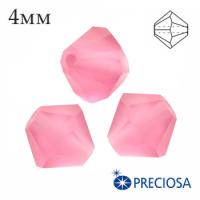 Биконусы хрустальные Preciosa 4 мм Rose МАТТ (матовый эффект) 20 штук/упаковка 062262 - 99 бусин