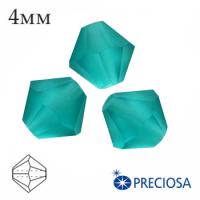 Биконусы хрустальные Preciosa 4 мм Blue Zircon MATT 20 штук/упаковка 062264 - 99 бусин