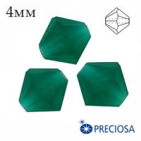 Биконусы хрустальные Preciosa 4 мм Emerald MATT 20 штук/упаковка 062265 - 99 бусин