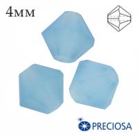 Биконусы хрустальные Preciosa 4 мм Aquamarine MATT (матовый эффект) 20 штук/упаковка 062266 - 99 бусин