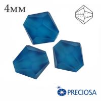 Биконусы хрустальные Preciosa 4 мм Capri Blue MATT (матовый эффект) 20 штук/упаковка 062267 - 99 бусин