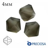 Биконусы хрустальные Preciosa 4 мм Black Diamond MATT (матовый эффект) 20 штук/упаковка 062268 - 99 бусин