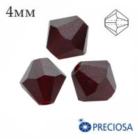 Биконусы хрустальные Preciosa 4 мм Garnet MATT (матовый эффект) 20 штук/упаковка 062269 - 99 бусин