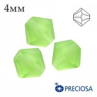 Биконусы хрустальные Preciosa 4 мм Peridot Matt 20 штук/упаковка 062302 - 99 бусин