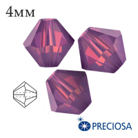 Биконусы хрустальные Preciosa 4 мм Amethyst Opal 20 штук/упаковка 062304 - 99 бусин