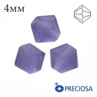 Биконусы хрустальные Preciosa 4 мм Tanzanite Matt (матовый эффект) 20 штук/упаковка 062305 - 99 бусин