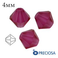 Биконусы хрустальные Preciosa 4 мм Fuchsia  Matt (матовый эффект) 20 штук/упаковка 062306 - 99 бусин