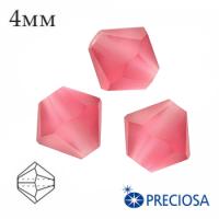 Биконусы хрустальные Preciosa 4 мм Indian Pink Matt (матовый эффект) 20 штук/упаковка 062307 - 99 бусин