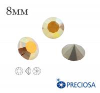 Шатоны PRECIOSA MAXIMA ss39 (8мм) Crystal Sunrise (Золотистый) без оправы 1 штука, Чехия 062346 - 99 бусин