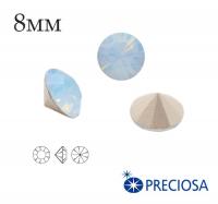 Шатоны PRECIOSA MAXIMA ss39 (8мм) Light Sapphire Opal (голубой опал) без оправы 1 штука, Чехия 062347 - 99 бусин