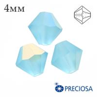 Биконусы хрустальные Preciosa 4 мм Aqua Bohemica AB Matt (Матовый эффект+АВ) 20 штук/упаковка 062349 - 99 бусин