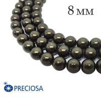 Жемчуг хрустальный Preciosa Maxima 8 мм Dark Green 5 штук/упаковка Чехия 062360 - 99 бусин