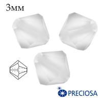 Биконусы хрустальные Preciosa 3 мм Crystall Matt (бесцветный, матовый эффект) 20 штук/упаковка 062415 - 99 бусин